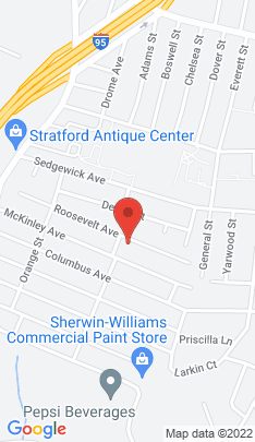 Map of Single Family Home on 287 Roosevelt Avenue,Stratford, CT