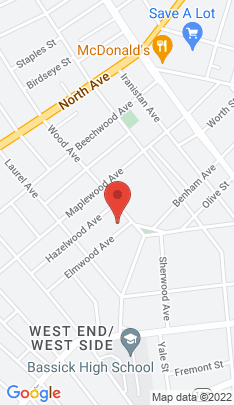 Map of Multi Family Home on 22 Elmwood Avenue,Bridgeport, CT