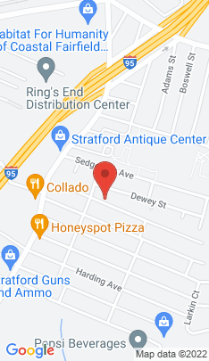 Map of Single Family Home on 160 Roosevelt Avenue,Stratford, CT