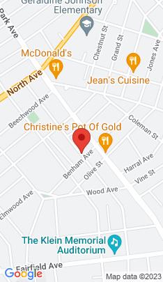 Map of Multi Family Home on 1408 Iranistan Avenue,Bridgeport, CT