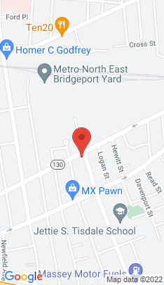 Map of Multi Family Home on 836 Connecticut Avenue,Bridgeport, CT