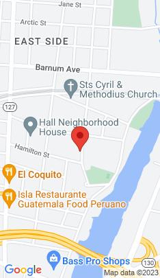 Map of Multi Family Home on 117 Hallett Street,Bridgeport, CT