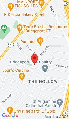 Map of Single Family Home on 22 Oak Street,Bridgeport, CT