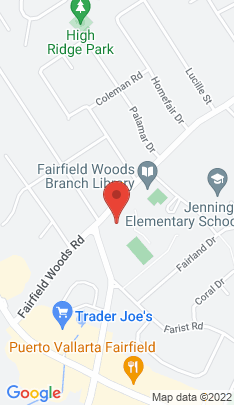 Map of Single Family Home on 1225 Fairfield Woods Road,Fairfield, CT
