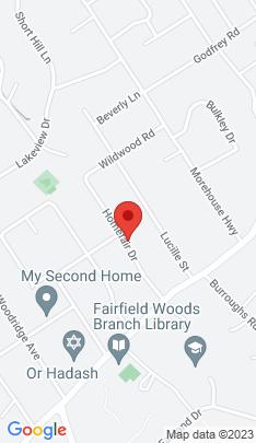 Map of Single Family Home on 152 Homefair Drive,Fairfield, CT