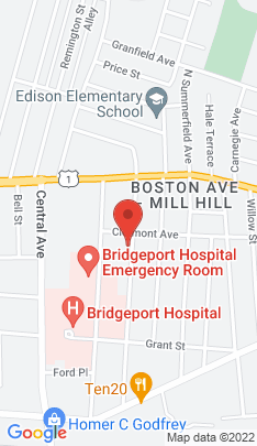 Map of Multi Family Home on 343 Ridgefield Avenue,Bridgeport, CT