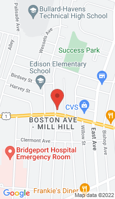 Map of Single Family Home on 1753 Boston Avenue,Bridgeport, CT