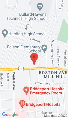 Map of Condo Home on 1575 Boston Avenue,Bridgeport, CT