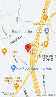 Map of Multi Family Home on 93 Parrott Avenue,Bridgeport, CT