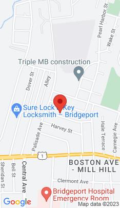 Map of Single Family Home on 59 Birdsey Street,Bridgeport, CT