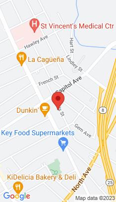 Map of Multi Family Home on 423 Wells Street,Bridgeport, CT