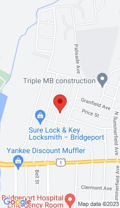 Map of Single Family Home on 232 Remington Street,Bridgeport, CT