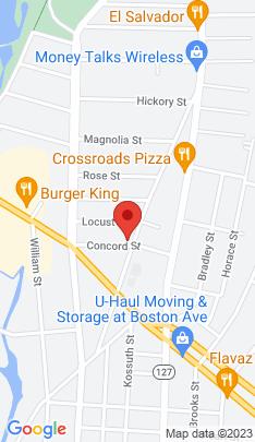 Map of Multi Family Home on 583 Huntington Road,Bridgeport, CT