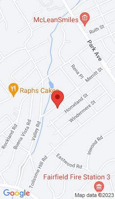Map of Single Family Home on 1271 Merritt Street,Fairfield, CT