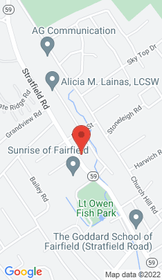 Map of Single Family Home on 1616 Stratfield Road,Fairfield, CT