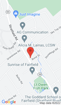 Map of Single Family Home on 1710 Stratfield Road,Fairfield, CT