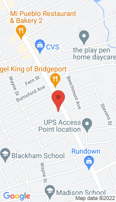 Map of Single Family Home on 84 Thorme Street,Bridgeport, CT