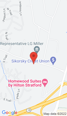 Map of Single Family Home on 845 Oronoque Lane,Stratford, CT