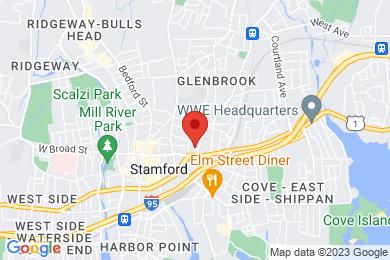 Map of Glenbrook Manor Condominium Complex, in Stamford CT