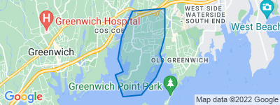 Map of Riverside, Greenwich CT