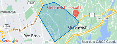 Map of Glenville, Greenwich CT