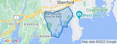 Map of South End, Stamford CT