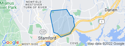 Map of Glenbrook, Stamford CT