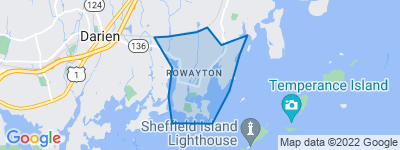 Map of Rowayton, Norwalk CT