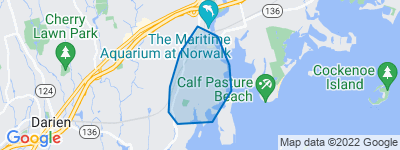 Map of South Norwalk (SoNo), Norwalk CT