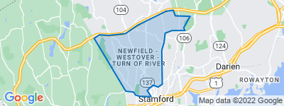 Map of Newfield, Stamford CT