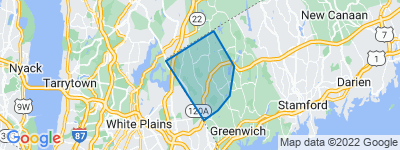 Map of Round Hill, Greenwich CT