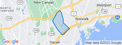 Map of West Norwalk, Norwalk CT