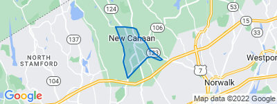 Map of New Canaan Center, New Canaan CT