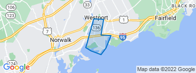 Map of Compo Beach, Westport CT