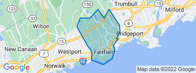 Map of Fairfield CT