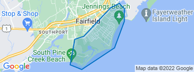 Map of Fairfield Beach, Fairfield CT