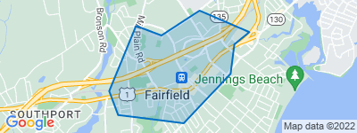 Map of Fairfield Center, Fairfield CT