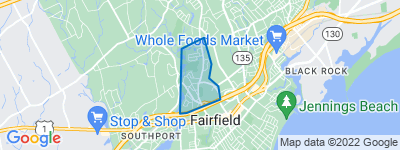 Map of Sturges, Fairfield CT