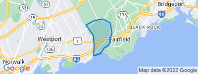 Map of Southport, Fairfield CT