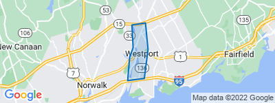 Map of Westport Center, Westport CT