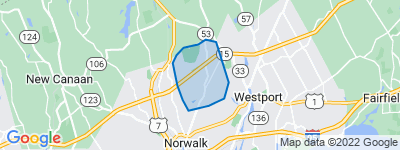 Map of Cranbury, Norwalk CT