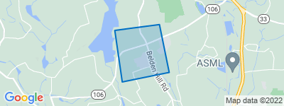 Map of Gilbert Corners, Wilton CT
