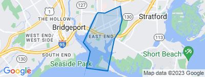 Map of East End, Bridgeport CT