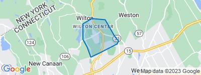 Map of Kent, Wilton CT