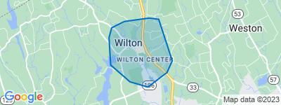 Map of Wilton Center, Wilton CT
