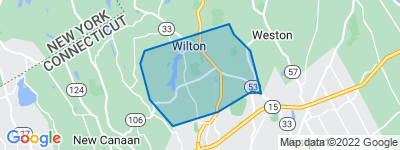 Map of South Wilton, Wilton CT