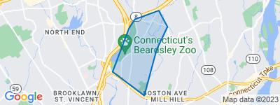 Map of Beardsley Park - Treeland, Bridgeport CT