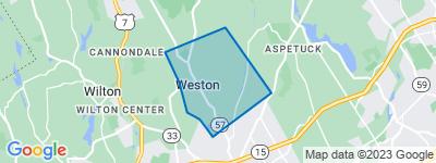 Map of Lower Weston, Weston CT