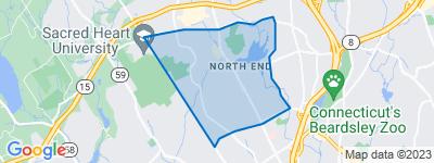Map of North End, Bridgeport CT