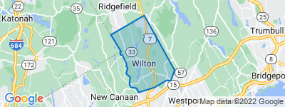 Map of Wilton, CT